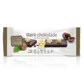 EASIS Mørk chokolade med hele hasselnødder 25 stk.