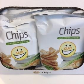 EASIS Chips Sour Cream & Onion 14×50 gr. (1 hel kasse)