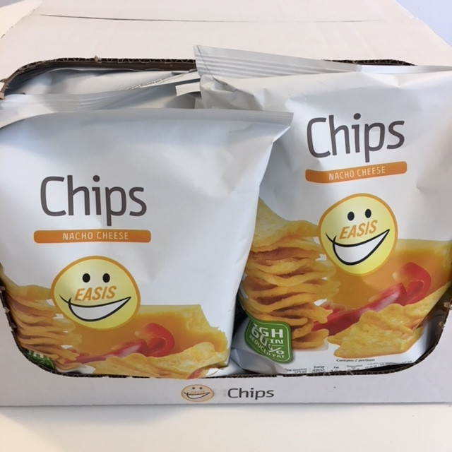 EASIS Chips Nacho Cheese 14×50 gr. (1 hel kasse)