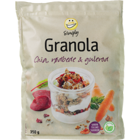 EASIS Simply Granola m. Chia, Rødbede & Gulerod