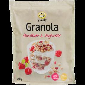 EASIS Simply Granola m. Hindbær & Boghvede