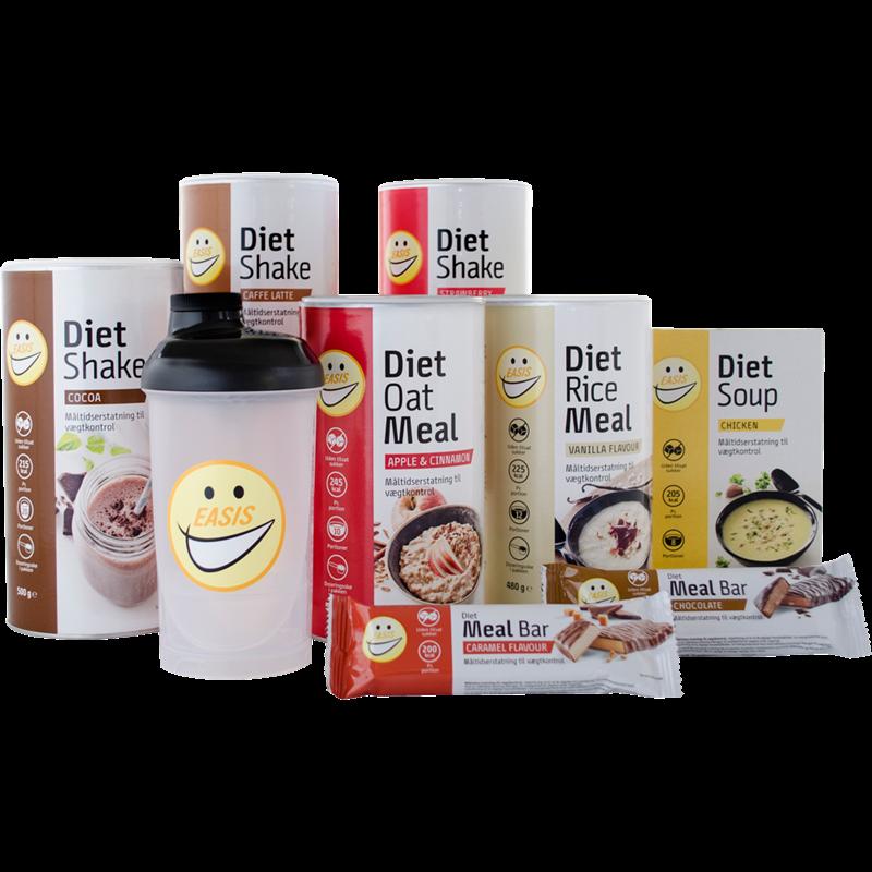 SAMPAK – Diet sortimentet inkl. shaker